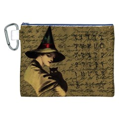 Witchcraft Vintage Canvas Cosmetic Bag (xxl) by Valentinaart