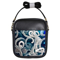 Spiral Glass Abstract  Girls Sling Bags by amphoto