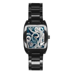 Spiral Glass Abstract  Stainless Steel Barrel Watch by amphoto