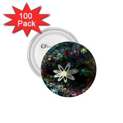 Flowers Fractal Bright 3840x2400 1 75  Buttons (100 Pack)  by amphoto