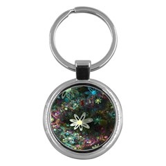 Flowers Fractal Bright 3840x2400 Key Chains (round)  by amphoto