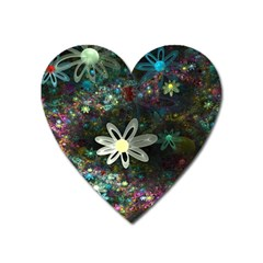 Flowers Fractal Bright 3840x2400 Heart Magnet by amphoto
