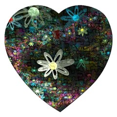Flowers Fractal Bright 3840x2400 Jigsaw Puzzle (heart) by amphoto