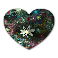 Flowers Fractal Bright 3840x2400 Heart Mousepads by amphoto