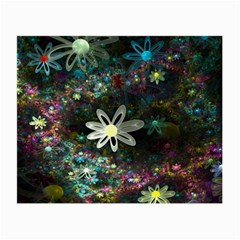Flowers Fractal Bright 3840x2400 Small Glasses Cloth (2 Side) by amphoto