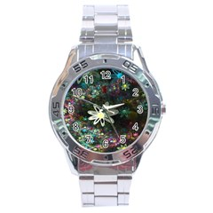 Flowers Fractal Bright 3840x2400 Stainless Steel Analogue Watch by amphoto
