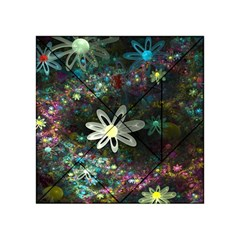 Flowers Fractal Bright 3840x2400 Acrylic Tangram Puzzle (4  X 4 ) by amphoto
