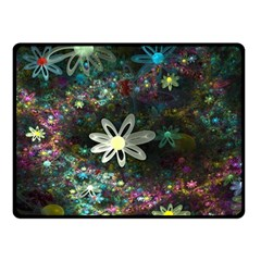 Flowers Fractal Bright 3840x2400 Double Sided Fleece Blanket (small)  by amphoto