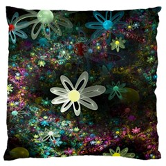 Flowers Fractal Bright 3840x2400 Standard Flano Cushion Case (one Side) by amphoto
