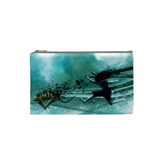 Running Abstraction Drawing  Cosmetic Bag (small)  by amphoto