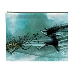 Running Abstraction Drawing  Cosmetic Bag (xl) by amphoto