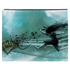 Running Abstraction Drawing  Cosmetic Bag (xxxl)  by amphoto