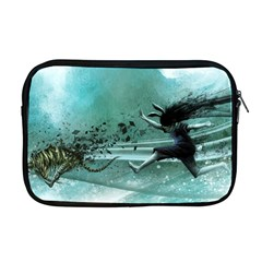 Running Abstraction Drawing  Apple Macbook Pro 17  Zipper Case by amphoto