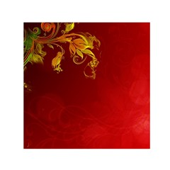 Fire Effect Background  Small Satin Scarf (square) by amphoto