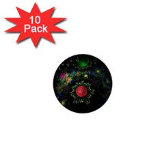 Shapes Circles Flowers  1  Mini Buttons (10 Pack)  by amphoto