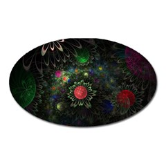 Shapes Circles Flowers  Oval Magnet by amphoto