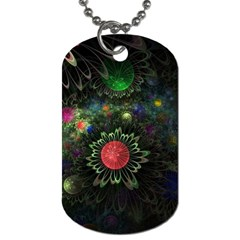 Shapes Circles Flowers  Dog Tag (two Sides) by amphoto