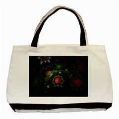 Shapes Circles Flowers  Basic Tote Bag by amphoto