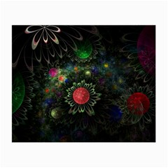 Shapes Circles Flowers  Small Glasses Cloth (2 Side) by amphoto