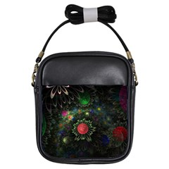 Shapes Circles Flowers  Girls Sling Bags by amphoto
