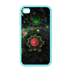 Shapes Circles Flowers  Apple Iphone 4 Case (color) by amphoto