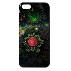 Shapes Circles Flowers  Apple Iphone 5 Seamless Case (black) by amphoto