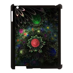 Shapes Circles Flowers  Apple Ipad 3/4 Case (black) by amphoto