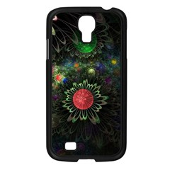 Shapes Circles Flowers  Samsung Galaxy S4 I9500/ I9505 Case (black) by amphoto