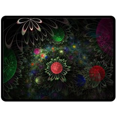 Shapes Circles Flowers  Double Sided Fleece Blanket (large)  by amphoto