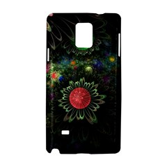 Shapes Circles Flowers  Samsung Galaxy Note 4 Hardshell Case by amphoto