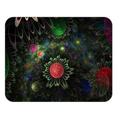 Shapes Circles Flowers  Double Sided Flano Blanket (large)  by amphoto