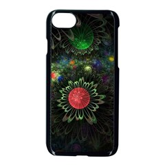 Shapes Circles Flowers  Apple Iphone 7 Seamless Case (black) by amphoto