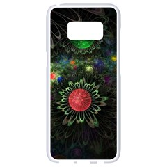 Shapes Circles Flowers  Samsung Galaxy S8 White Seamless Case by amphoto