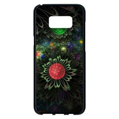 Shapes Circles Flowers  Samsung Galaxy S8 Plus Black Seamless Case by amphoto