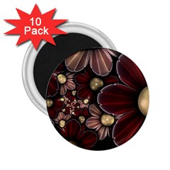 Flower Background Line 2 25  Magnets (10 Pack)  by amphoto