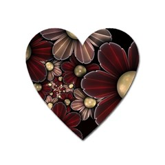 Flower Background Line Heart Magnet by amphoto