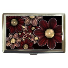 Flower Background Line Cigarette Money Cases by amphoto