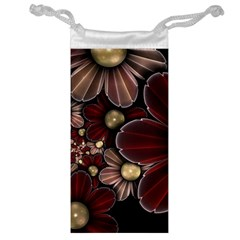 Flower Background Line Jewelry Bag by amphoto