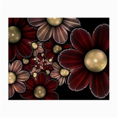 Flower Background Line Small Glasses Cloth (2 Side) by amphoto