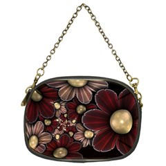 Flower Background Line Chain Purses (one Side)  by amphoto