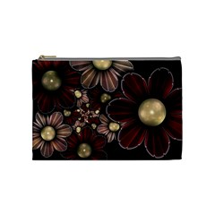 Flower Background Line Cosmetic Bag (medium)  by amphoto