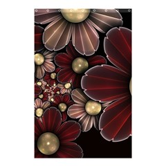 Flower Background Line Shower Curtain 48  X 72  (small)  by amphoto