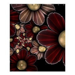 Flower Background Line Shower Curtain 60  X 72  (medium)  by amphoto
