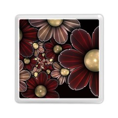 Flower Background Line Memory Card Reader (square)  by amphoto