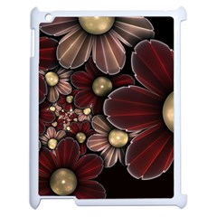Flower Background Line Apple Ipad 2 Case (white) by amphoto