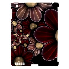 Flower Background Line Apple Ipad 3/4 Hardshell Case (compatible With Smart Cover) by amphoto