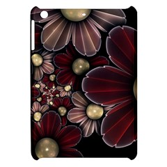 Flower Background Line Apple Ipad Mini Hardshell Case by amphoto