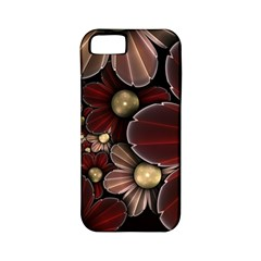 Flower Background Line Apple Iphone 5 Classic Hardshell Case (pc+silicone) by amphoto