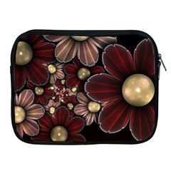 Flower Background Line Apple Ipad 2/3/4 Zipper Cases by amphoto