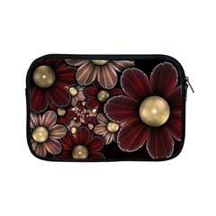 Flower Background Line Apple Ipad Mini Zipper Cases by amphoto